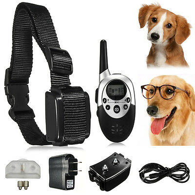 LCD Electric Shock E-Collar Remote Control Dog Training Anti-Bark Rechargeable