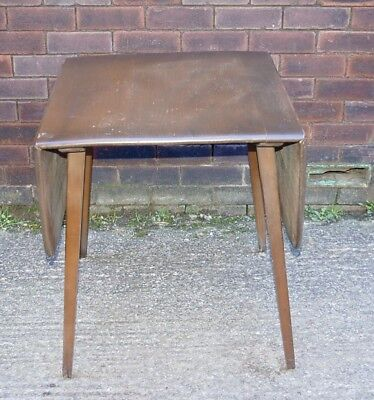 Bargain Ercol  Retro Drop Leaf Dining Kitchen Table Solid Elm & Beech