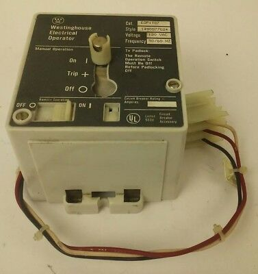 Westinghouse Eop1T07 Electrical Operator 120V 50/60Hz, Style 1490D77G24, F Frame