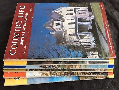 Country Life Magazine x 7 Issues March - May 1983