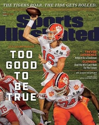 Trevor Lawrence Clemson Football Sports Illustrated cover Photo - select size