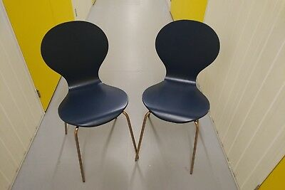 Kitsch Blue And Copper Dining Chairs