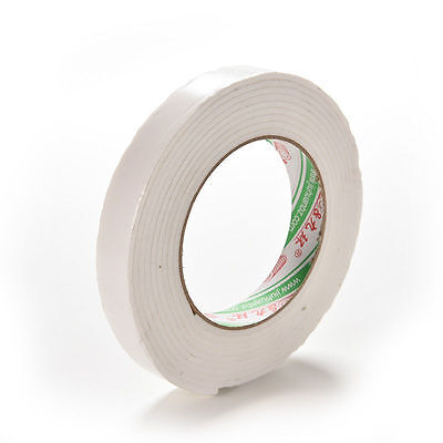 Double Sided White Foam Sticky Tape Roll Adhesive Super Strong easy  Kh