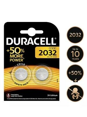 2 x DURACELL CR2032 3V LITHIUM BUTTON BATTERY COIN CELL DL/CR 2032 GENUINE