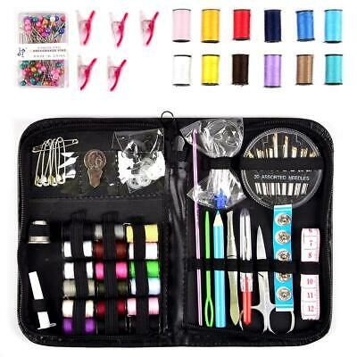 200 Piece Mini Sewing Kit Thread Scissor Tape Pins Thimble Needle Travel Home
