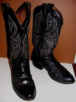 1fa46cb880a TONY LAMA OSTRICH Leg Caiman Belly Western BOOTS Leather Men Exotic ...
