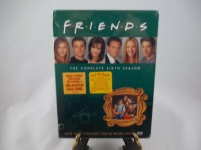 Friends - The Complete Sixth Season (DVD, 2004, 4-Disc Box Set)-Brand New/Sealed