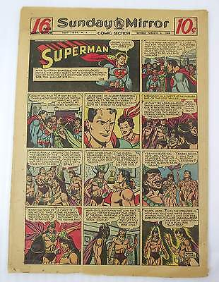 New York Sunday Mirror Comic Section March 6, 1949 Color Superman & Much More