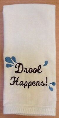 Drool Happens, Great Pyrenees Hand Towel, Embroidered, Custom, Personalized, Dog