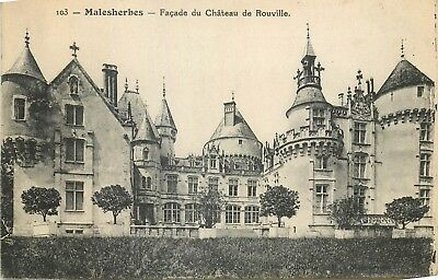 Cp Malesherbes Facade Chateau Rouville