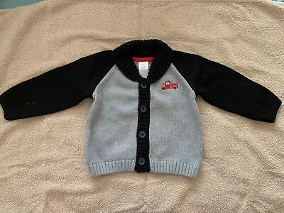 Gymboree Cozy Baby Boy Sweater Brand New NWT 12-18 Month Gray & Black