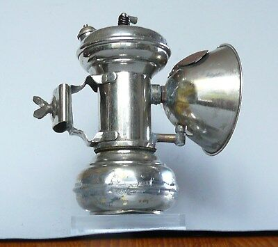 "Ancienne lampe de vélo ""La Populaire"" carbure, Carbide lantern for bicycle lamp"