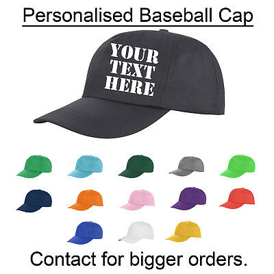 Personalised Printed Or Embroidered Baseball Cap Custom Made Work Stag Birthday