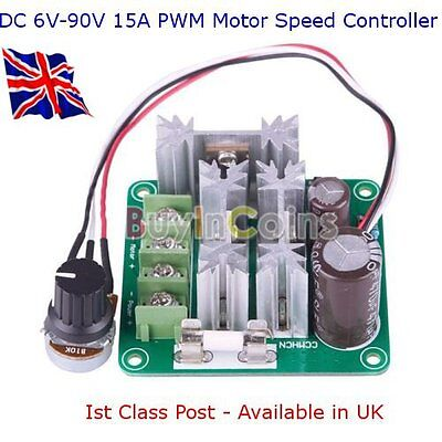 DC 6V-90V 15A PWM Speed Controller - Suit Raspberry Pi - Arduino - Avail in UK