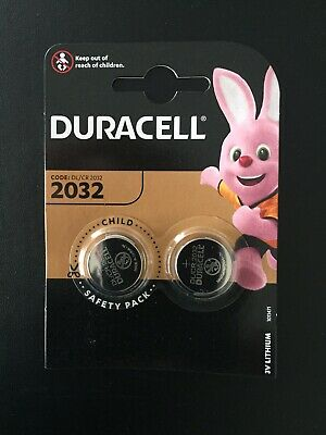 2 x Duracell CR2032 3V Lithium Button Battery Coin Cell 2029 Expiry Date Key Fob