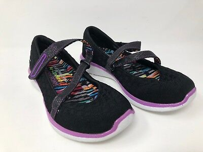 49995a015b85 Girl s Youth Skechers MICROBURST - ONE UP 86914L size 1.5 Black purple 54R