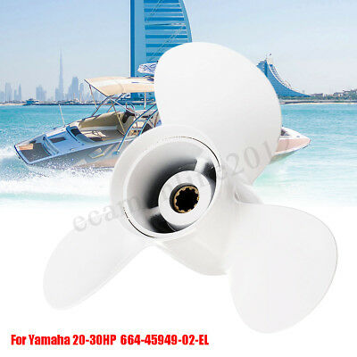 Marine Boat 9 7/8 x 13 Outboard Propeller For Yamaha 20-30HP 664-45949-02-EL