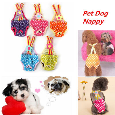 Female Pet Dog Briefs Hygiene Puppy Cloth Diaper Sanitary Pants Underwear 6 Size