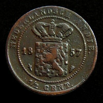 Netherlands Indies - 1/2 Cent 1857