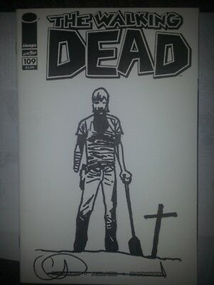 The Walking Dead 109 Blank Charlie Adlard Cover Sketch 2014 - Rick #48