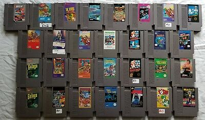 Nintendo NES Huge Lot of 29 Games - Mario Donkey Kong Ninja Gaiden Jekyll Hyde