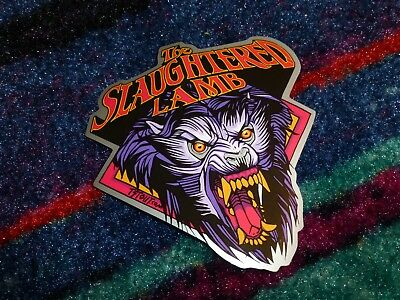 Tyler Stout The Slaughtered Lamb American Werewolf in London sticker.