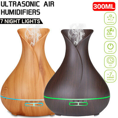 Essential Oil Aroma Aromatherapy Purifier Diffuser Air Humidifier 300ml Light