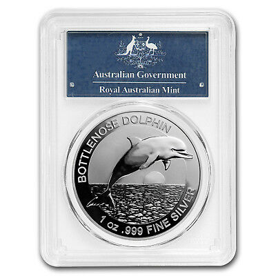 2019 Australia 1 oz Silver Dolphin MS-69 PCGS (First Strike) - SKU#180700