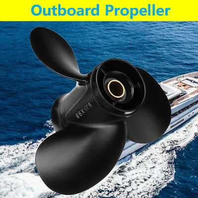 9.25 x 9.8 Aluminum Outboard Propeller For Tohatsu Mercury 9.9-20HP 362B641080
