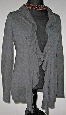 6ff2507708 Ann Taylor LOFT Women s Sweater Cardigan Wrap Open Gray Size X Large