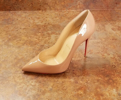 2b5d1d889dd3 New! Christian Louboutin  Pigalle Follies  Pointy Toe Pump Nude 7 US 37 Eur