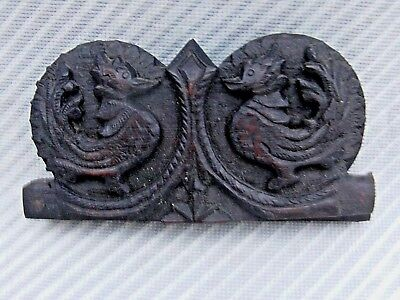 Antique Chinese / Oriental Opium Scales In Carved Mythical Bird Case L@@K