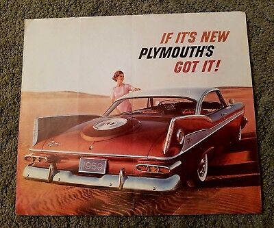 "Vintage Original 1959 Plymouth ""IF IT'S NEW PLYMOUTH'S GOT IT!"" Sales Brochure"