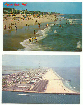 Ocean City MD Lot of 2 Postcards - Maryland