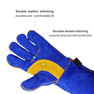 Heat Welding Gloves Fire Oven Fireplace BBQ 16 Inch Lightweight Breathable 2018