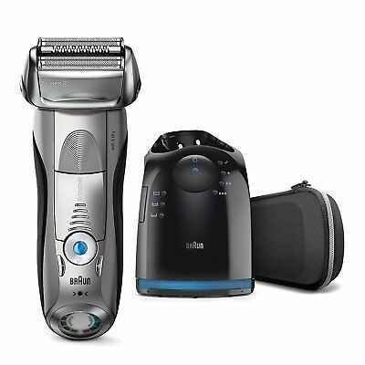 Braun Series 7 7898cc Men's Electric Foil Shaver, Wet & Dry with Clean & Charger