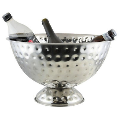 BarBits Champagne Wine Bottle Bowl Stainless Steel Hammered Finish Bucket Cooler