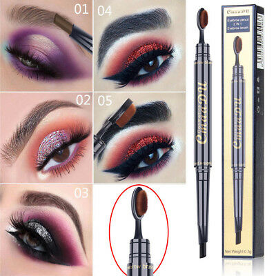 Double-End Automatic Rotation Eyebrow Pencil With Brush Women Eye Make Up Tool