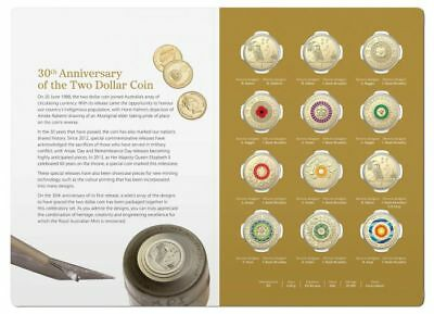 2018 30th Anniversary of the $2  Two Dollar coin -  12 coin set