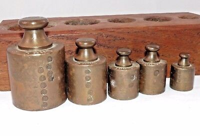 BRONZE SCALE WEIGHT SET Apothecary Store antique