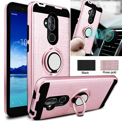For Huawei P20 Mate 20 Pro P20 Lite Case Hybrid Armor Ring Holder Stand Cover