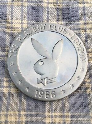 """The Franklin Mint   1966 London Playboy Club """"One Pound"""" Gaming Token  Rare"""