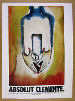 2001 Absolut Clemente francesco clemente painting art artwork vintage print Ad