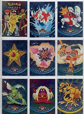 Complete Pokemon Series 3 Silver Foil card Set! 72 TV Animation Foils by Topps!