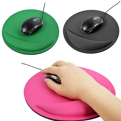 Non Slip Round Mouse Mat Pad With Rest Hand Wrist Support For Computer Laptop