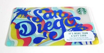 Starbucks San Diego Card Metallic Blue California Limited Edition HTF New