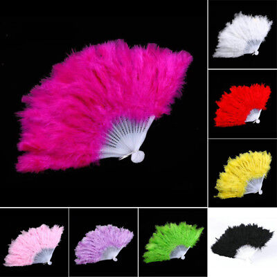 Dance Feather Fan Prom Fancy Costume Foldable Burlesque Party Cosplay Fashion