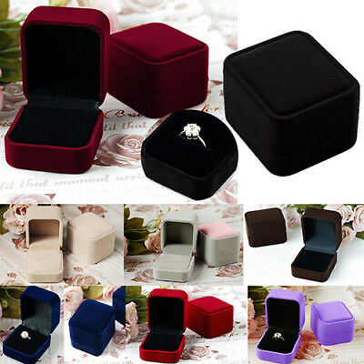 AU_ Jewelry Gift Box For Ring Holder Wedding Engagement Present Unique