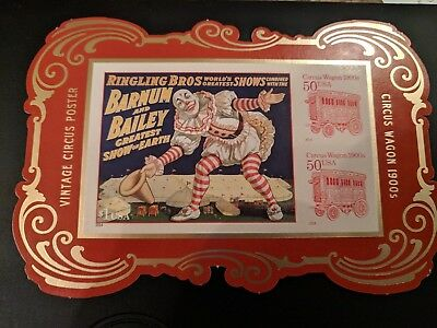 4905C Circus Souvenir Sheet RARE DIE CUT VERSION - from Yearbook USPS Sold Out