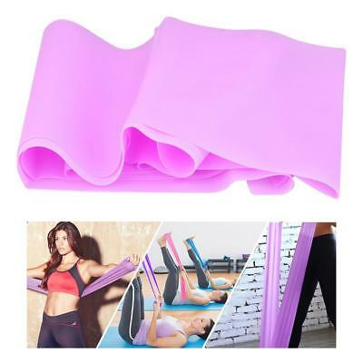 1.5m Elastic Yoga Stretch Resistance Bands Exercise Fitness Band Theraband SP